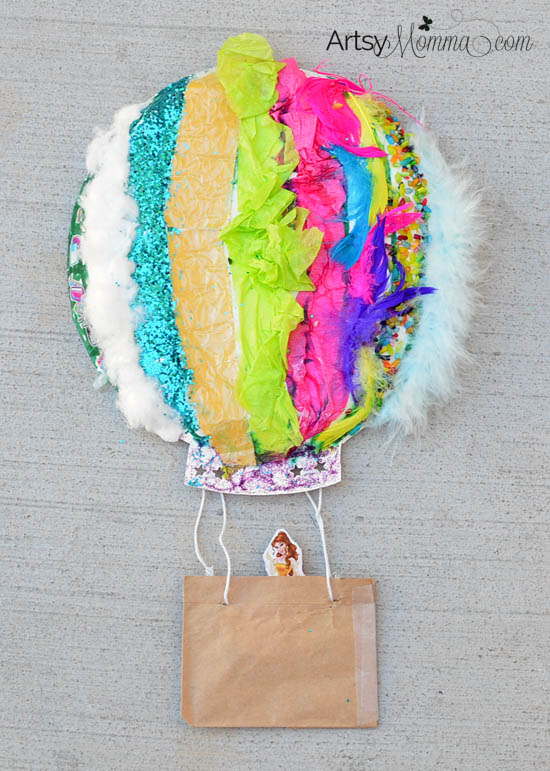 Make a Textured Paper Plate Hot Air Balloon Craft