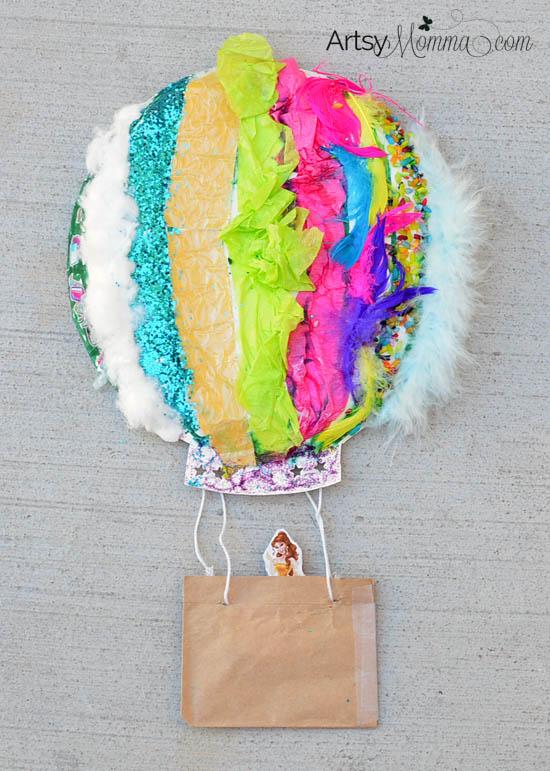 Make a Textured Paper Plate Hot Air Balloon Craft