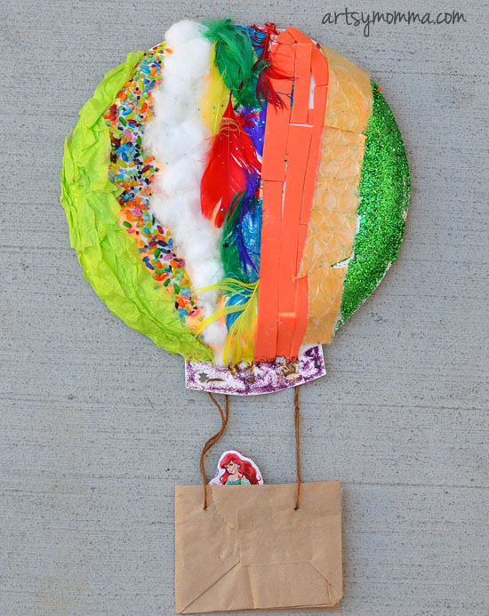Paper Plate Hot Air Balloon Kids Craft