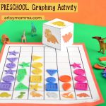 Preschool Math: Printable Dinosaur Graphing Activity