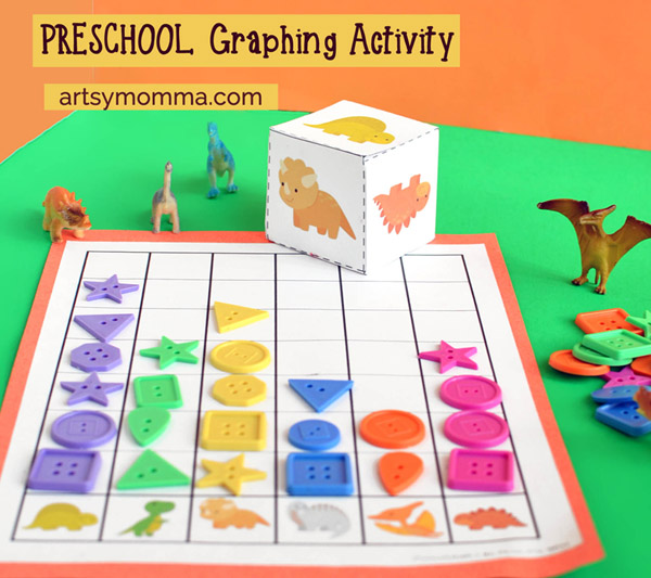 fun dinosaur graphing activity for preschoolers artsy momma. Black Bedroom Furniture Sets. Home Design Ideas