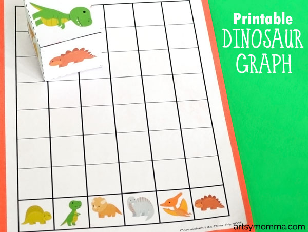 Preschool Math - Dinosaur Graph Activity and Game Idea
