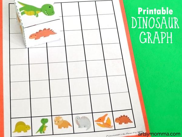 Preschool Math - Dinosaur Graph Activity and Game Idea