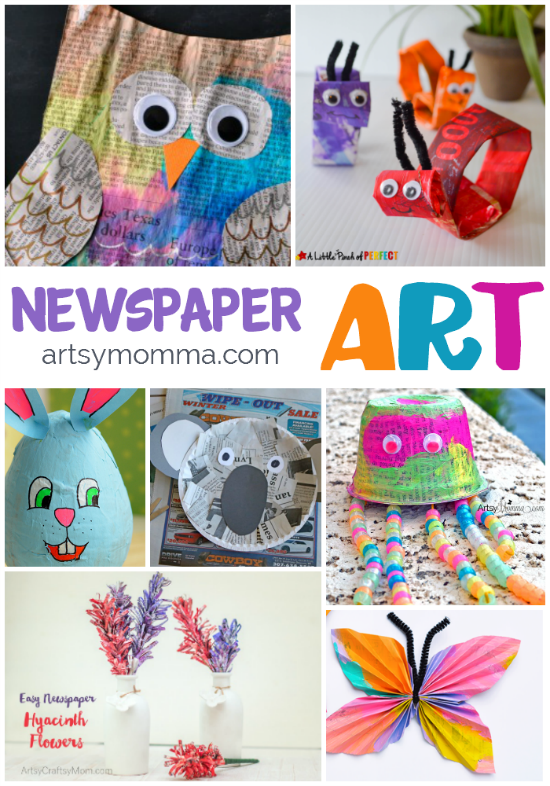 Getting Artsy With Recycled Newspaper Crafts Artsy Momma