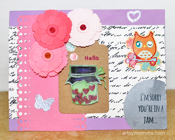 Heart & Jar Stamped Card Project