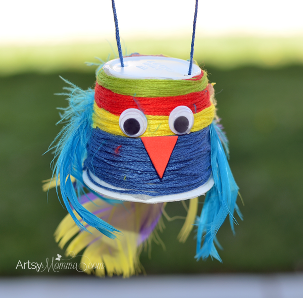 String Wrapped K Cup Parrot Craft