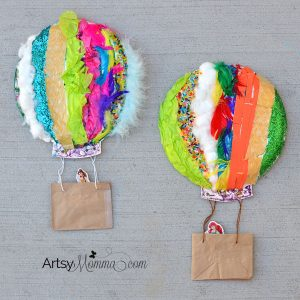 Textured Hot Air Balloons - Sensory Art Idea