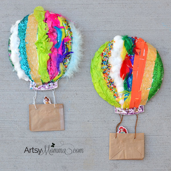 textured hot air balloon