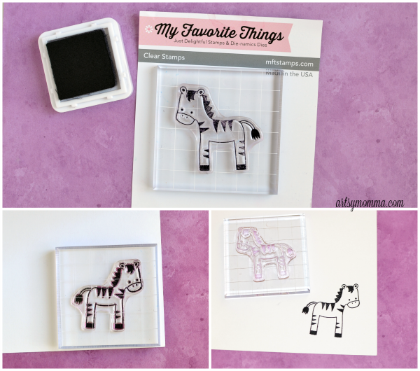 Zebra Stamp Craft - My Favorite Things