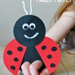 Mega Adorable Ladybug Finger Puppet Craft for Kids