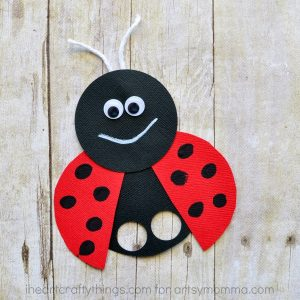 Kids will love making this cute ladybug craft in spring.