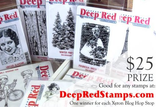 Deep Red Stamps Giveaway