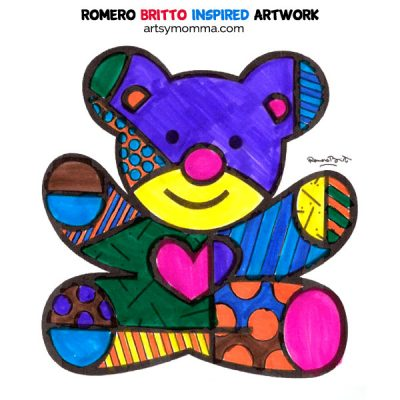 Vibrant Artwork Inspired by Pop Artist Romero Britto