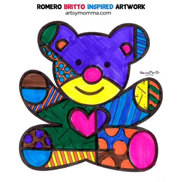 Art Inspired By Pop Artist Romero Britto