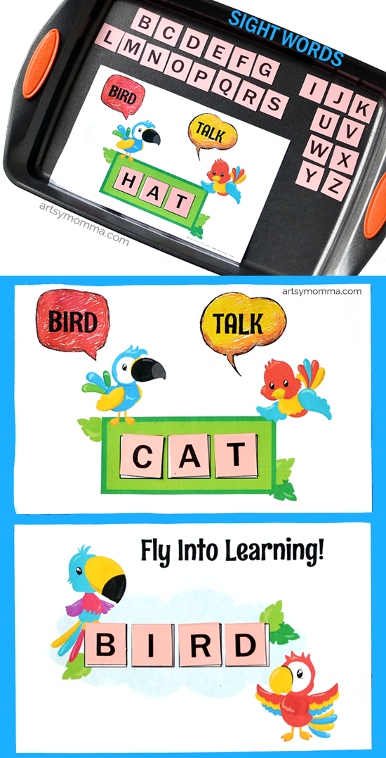 Fly Into Learning Sight Words Printable Artsy Momma