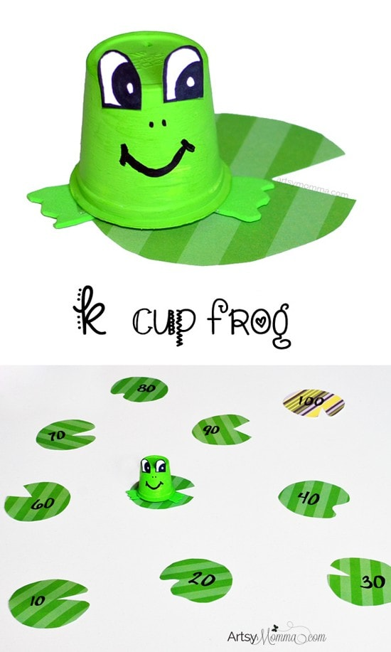 Frog Hop - Count by Tens to 100 Activity