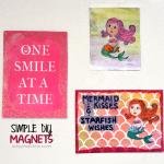 DIY Stamped Mermaid Magnets