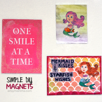 DIY Mixed Media Mermaid Magnets