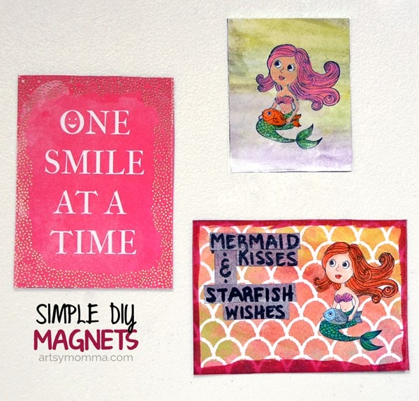 DIY Stamped Mermaid Magnets