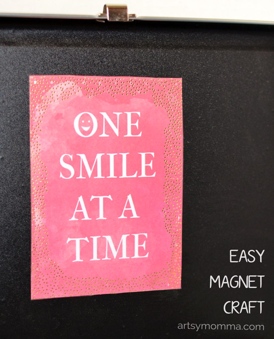 Easy-to-make Magnet Saying Craft