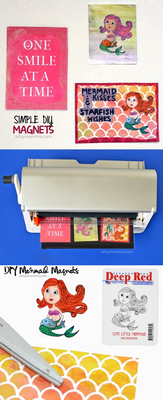 Simple DIY Stamped Magnets Tutorial