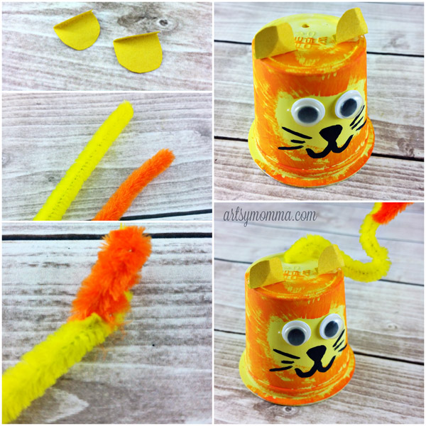 Recycled K Cup Lion Craft Zoo Theme Artsy Momma
