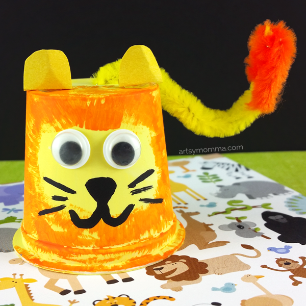 Recycled Lion Cup Craft