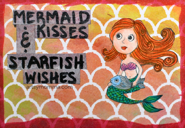 Mermaid Wishes & Starfish Kisses Saying for Magnet Craft