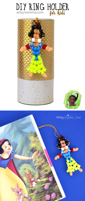 Pony Bead Snow White Pattern Ring Holder Tutorial