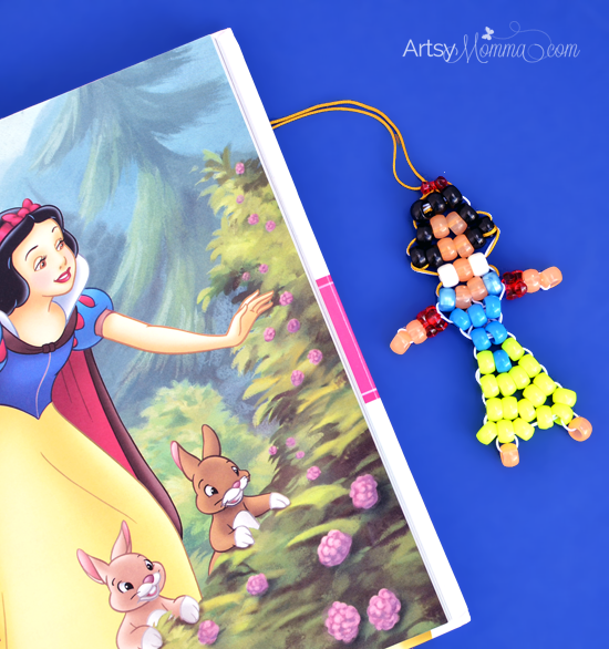 Pony Bead Snow White Keychain Charm or Zipper Pull Idea