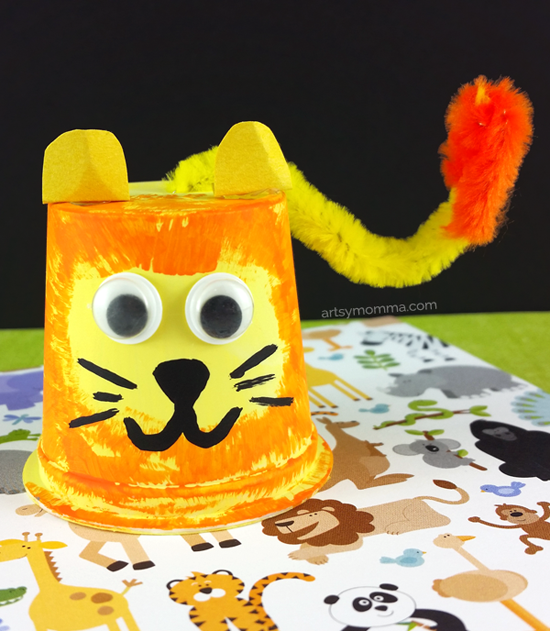 Recycled Lion K Cup Craft - Jungle Safari Theme