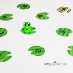 Recycled K Cup Frog Craft & Skip Counting Activity