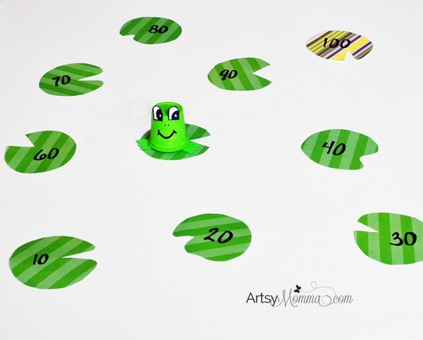 Frog Lilypad Hop Counting Activity