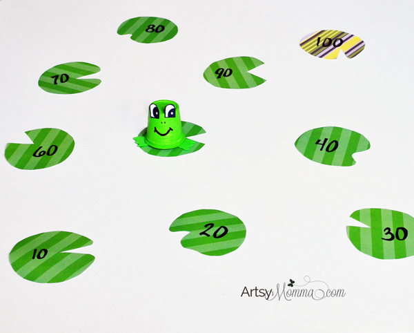 Number Names Worksheets skip counting activity : Recycled K Cup Frog Craft and Skip Counting - Artsy Momma