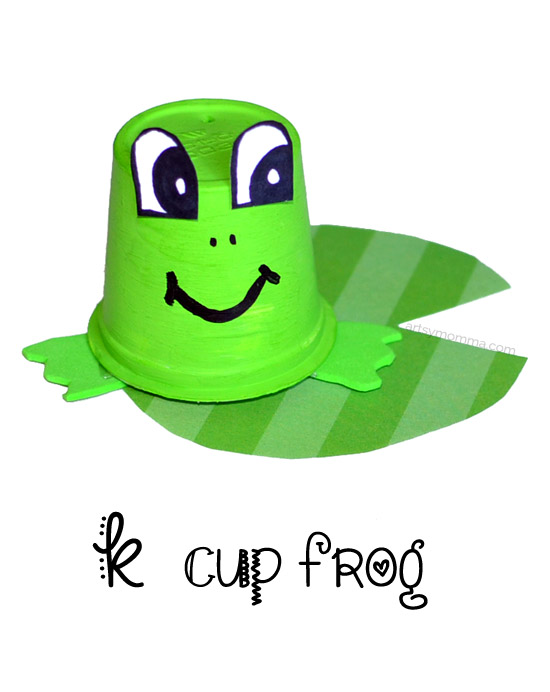 Recycled K Cup Frog Craft & Learning Game