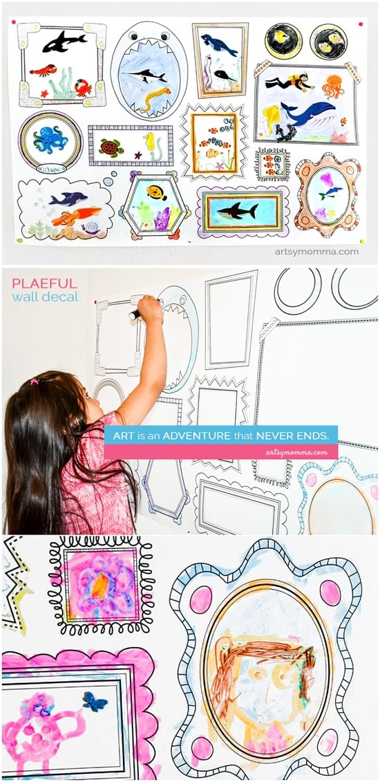 Boredom Buster: Erasable Wall Decal Sticker Prompt Activity fo
