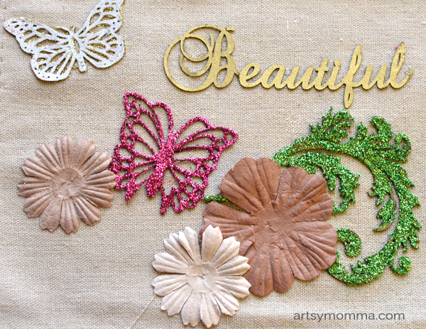 DIY Home Decor Chipboard Project