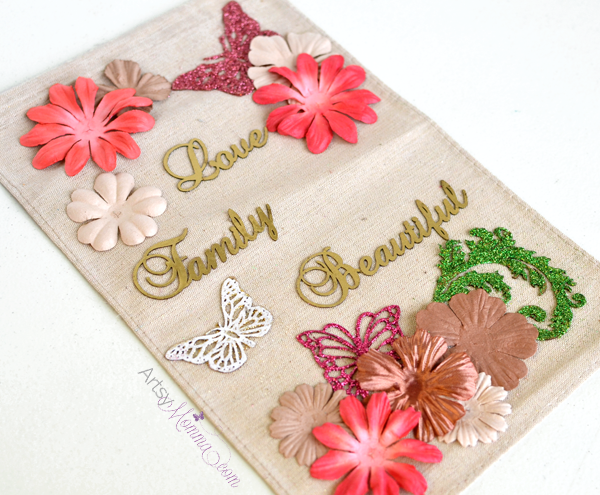 DIY Chipboard Saying Wall Decor Project