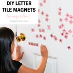 DIY Tile Letter Magnets and Learning Activities