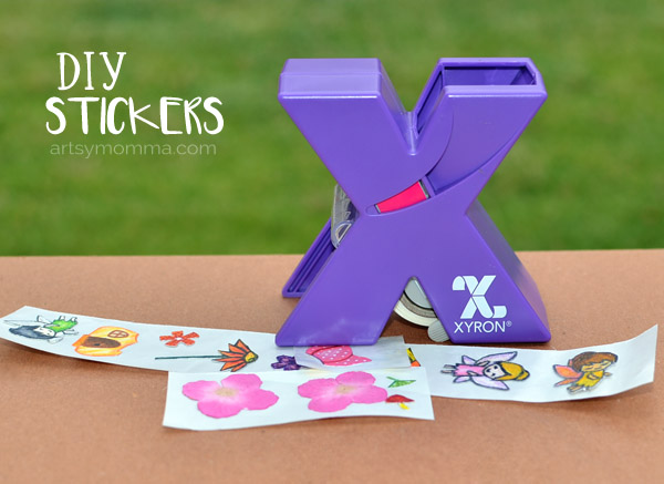 Make your Own Stamped Stickers | Xyron & Lawn Fawn