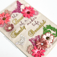 'The Love of a Family Makes Life Beautiful' Chipboard Decor Project