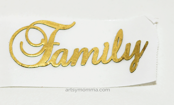Embossed Laser Cut 'Family' Chipboard