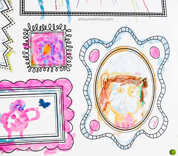 Drawing Activity for Younger Kids - Erasable Decal You Can Use Over & Over
