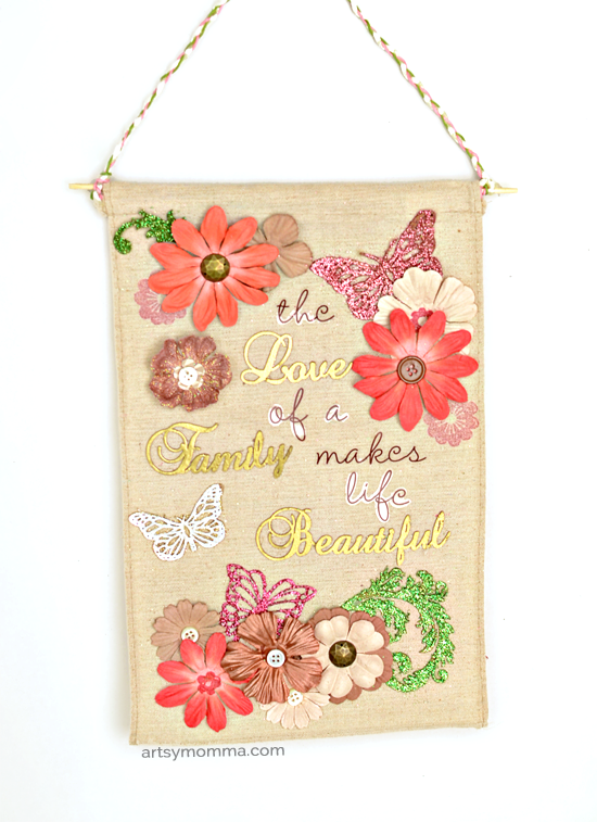 The Love of a Family Makes Life Beautiful Chipboard Decor Project