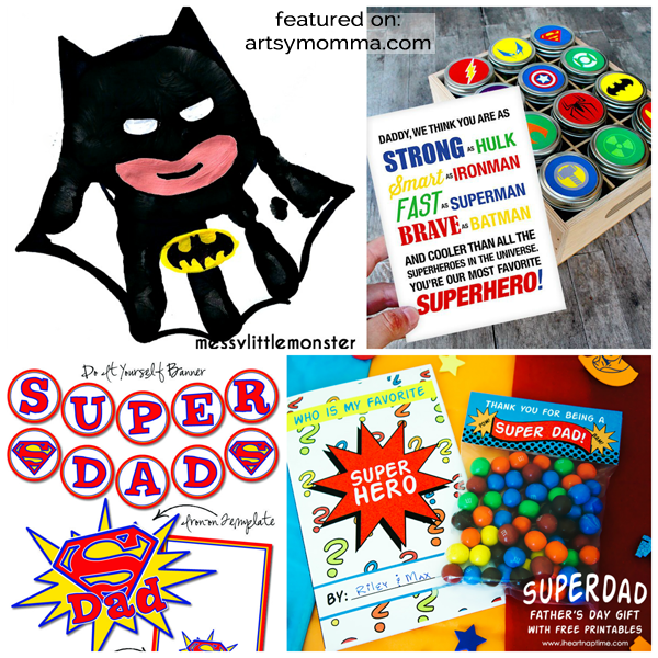 Crafts, Cards & Party Ideas for a Super Dad Father's Day Theme