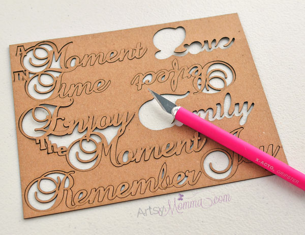 Gypsy Soul Laser Cuts Words & Phrases Chipboard Craft