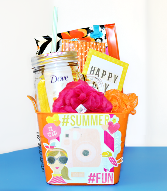Hello Summer Bucket of Fun Gift Idea
