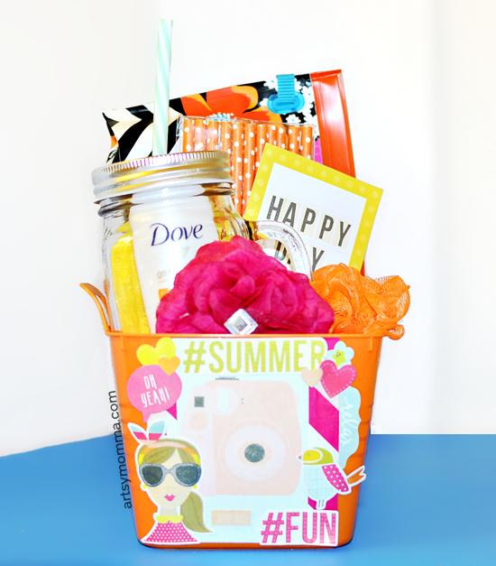 Hello Summer Bucket of Fun Gift Idea