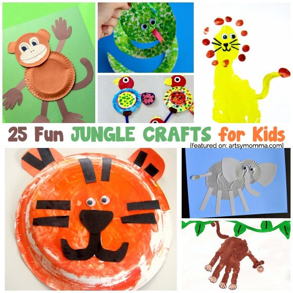Jungle Crafts For Kids To Go Along With The Jungle Book Artsy Momma