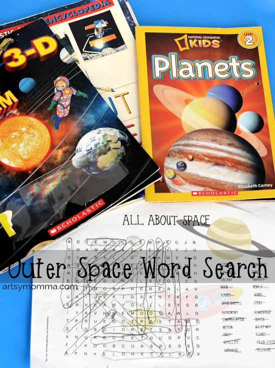 Outer Space Themed Word Search & Non-fiction Books